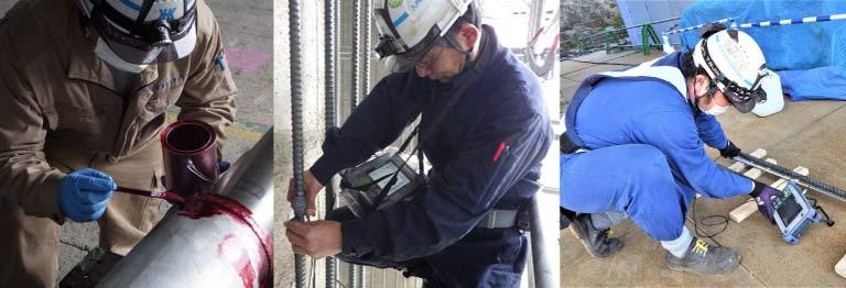 九州非破壊検査株式会社の専門分野に精通した技術者は、情熱を持って検査を行います。
